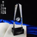 上海獎盃紅絲帶內雕獎盃  愛心慈善活動水晶獎盃