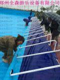 山东户外儿童充气水上乐园 组合水滑梯水上漂浮物