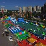 山西戶外廣場大型支架遊泳池兒童充氣水滑梯多少錢