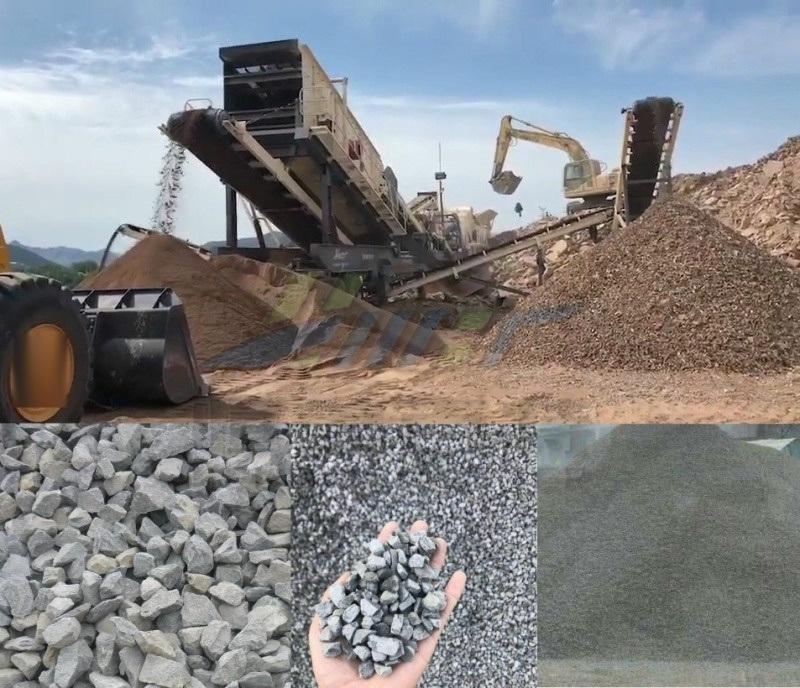 泰安移动式破碎机设备 石子石块移动式破碎站厂家直销