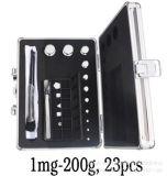E2级无磁不锈钢砝码 1mg-200g天平校正砝码 1mg-200g砝码套装