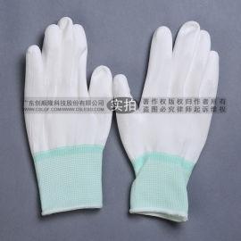 PU涂掌手套 白色尼龙涂胶手套 无尘手套作业手套