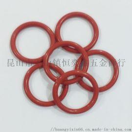 进口模具硅胶红色耐高温O型密封圈 防气防水胶圈