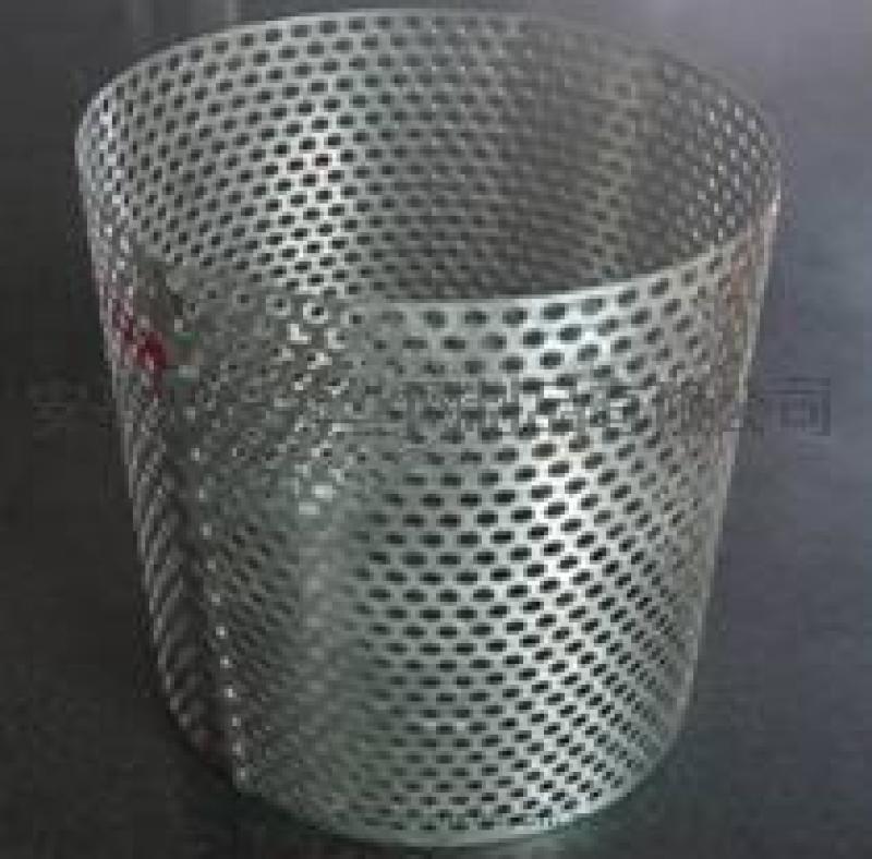 推荐304不锈钢圆孔过滤桶高效安平兴博丝网定制