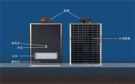 新品爆款6米30瓦太阳能感应灯led户外照明灯