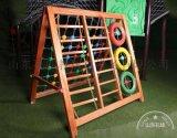 供應幼兒園攀爬架木質蕩橋戶外兒童實木感統訓練組