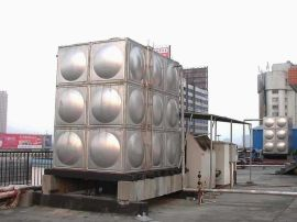 玻璃钢水箱 屋顶的消防水箱
