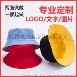 纯棉渔夫帽定做可刺绣印制LOGO广告帽定制
