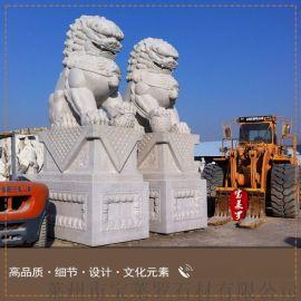 供应汉白玉中式石狮子,园林景观动物雕塑