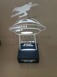 有机玻璃LED灯工艺品 亚克力艺术品展览 装饰用品