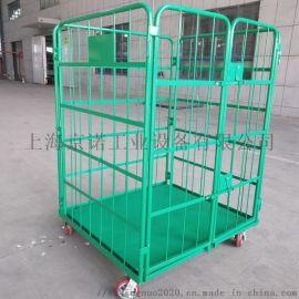 上海物流台车 折叠式双开门车间工具车