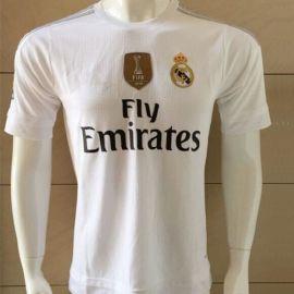 **马德里 15-16赛季新款皇马主场球衣C罗训练服队服短袖足球服