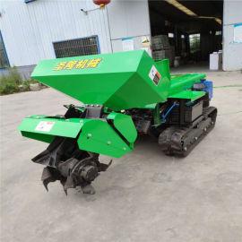 履带式开沟施肥机,多功能履带式开沟施肥回填一体机