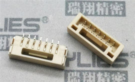 PCB连接器1.25 卧贴单排插针 电路板连接器