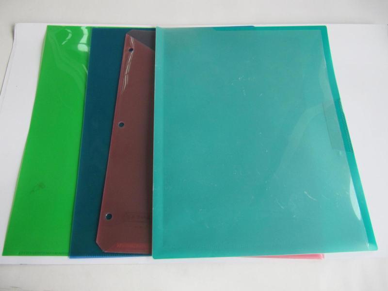 批发定作PP  L型文件夹,多功能文件夹
