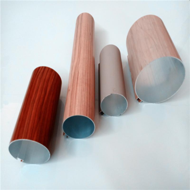 厂家直销铝圆管建材装饰木纹圆管铝方通专用规格定制