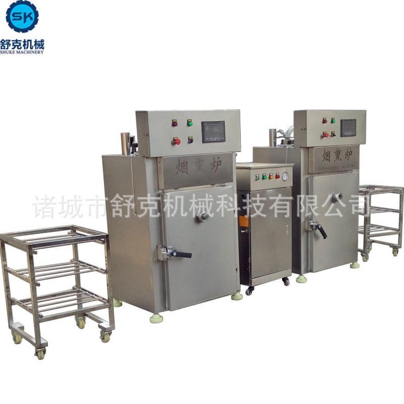 时间继电器控制30型号全自动不锈钢材质烟熏炉设备 红肠烟熏机器