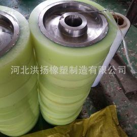 聚氨酯传动辊 耐磨胶轴 高强度聚氨酯包胶轮定制