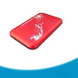 直销2.5寸SATA铝合金硬盘盒 亮面花纹 USB2.0移动硬盘盒子