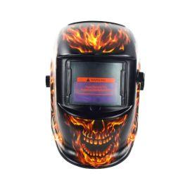 頭戴式全臉防護眼鏡面具電焊面罩焊工專用電焊帽子