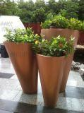 不锈钢家具创意花瓶 锥形花瓶 时尚镀金花插 落地式摆饰花盆