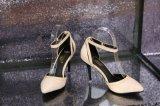 批发2015新款单鞋尖头高跟扣带鞋欧洲站女鞋细跟漆皮四季鞋单鞋子