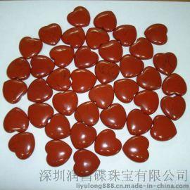【天然宝石】时尚宝石心形红石订做批发厂家直销