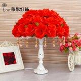 萊思燈飾現代宜家創意玫瑰花布藝檯燈批發