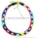 廠家直銷棉線編織帽箍 蠟繩打結編織帽檐裝飾品
