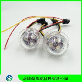 26MM点光源5050三灯全彩点光源像素灯透明壳跑马灯WS2811/UCS1903