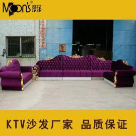 **会所皮艺沙发组合 酒店KTV休闲皮布艺沙发