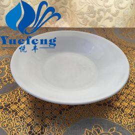 【厂家直销】翻边深盘FBSP-80 耐热钢化玻璃器皿 白玉碗 盘子