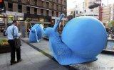 深圳玻璃钢厂家零售玻璃钢动物/仿真蜗牛雕塑广场摆件