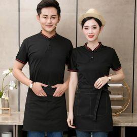 夏季定制LOGO工作服餐饮餐厅定制衫POLO衫快餐店男女短袖t恤夏装