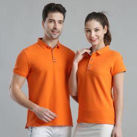 夏季班服短袖T恤带领定制印工作服工装翻领POLO衫
