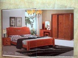 佛山市怡神家具红木家具床橡木床软床高箱床高箱衣柜床双人床