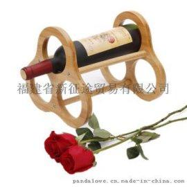 欧式创意定制竹制红酒架葡萄酒架摆件客厅房间装饰酒吧吧台多瓶款