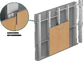 新型钢制隔墙板-PVC材质