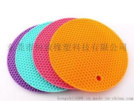 耐高温硅胶蜂窝垫 多功能餐垫 硅胶防滑蜂窝隔热垫