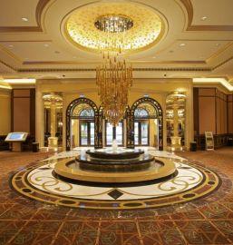 星级酒店宴会厅吊灯售楼部大堂展厅水晶吊灯饰非标工程灯具定做