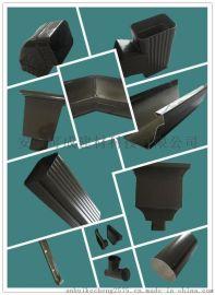 厂家直销铜陵彩铝雨水管,金属排水管仿铜系列落水系统