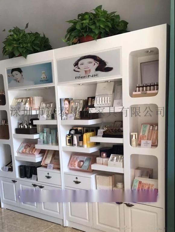 新款高档化妆品展示柜设计 烤漆展柜图片 定做商场展柜