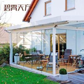 別墅會所陽光房 露臺玻璃鋁合金玻璃房小區陽光房貨源地廠家定制加工