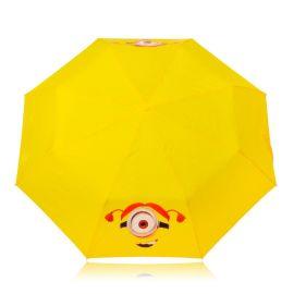 创意大眼卡通儿童雨伞定制 自动折叠伞带防水套儿童雨伞加印LOGO