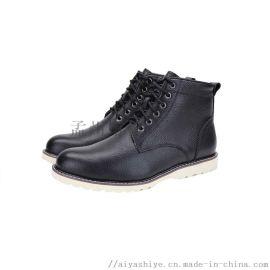 AIYA品牌2018经典款保暖羊毛男鞋马丁靴