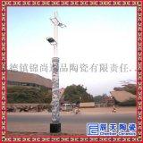 景德镇青花瓷陶瓷灯柱 广场照明陶瓷灯柱