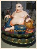 弥勒佛定做批发 木雕或玻璃钢弥勒佛厂家