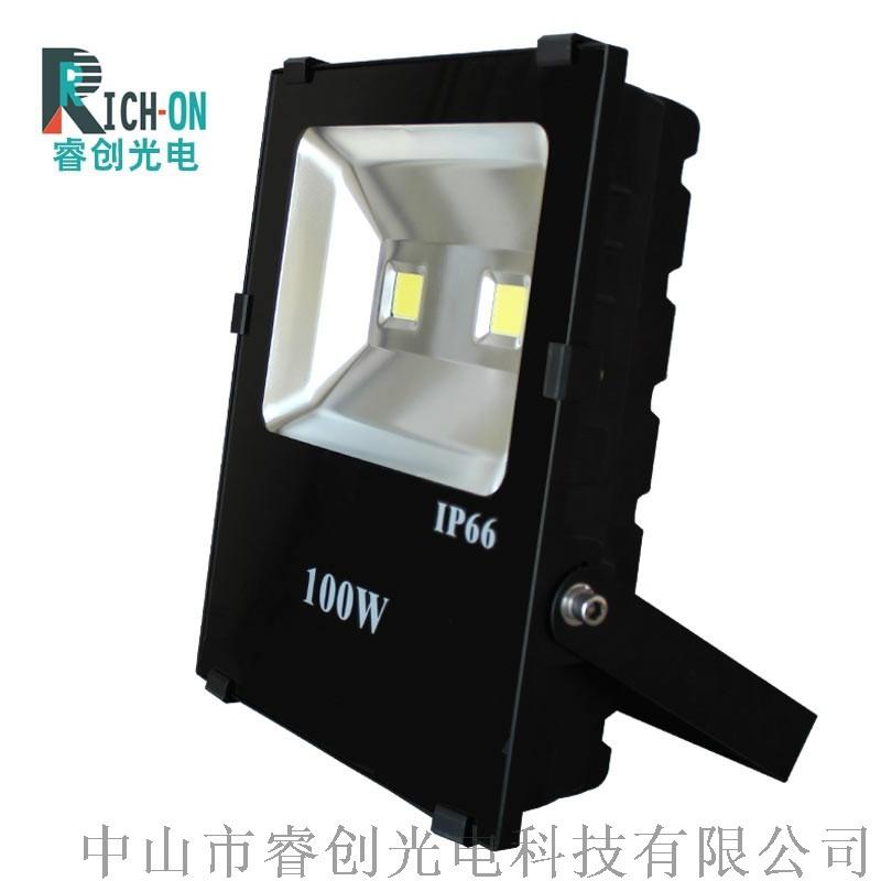 睿創光電黑金剛LED投光燈,100W投射燈泛光燈