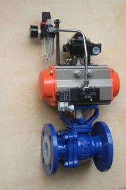 衬氟气动球阀 Q641F46 电动球阀