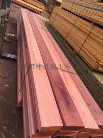 山樟木防腐木建材可制定做防腐碳化